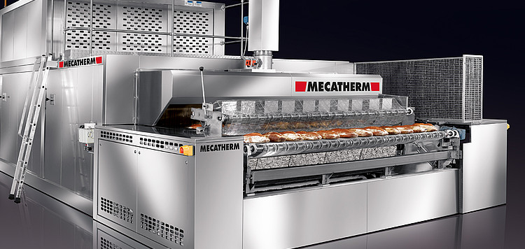 conduction and radiation stone oven for bakery industrial